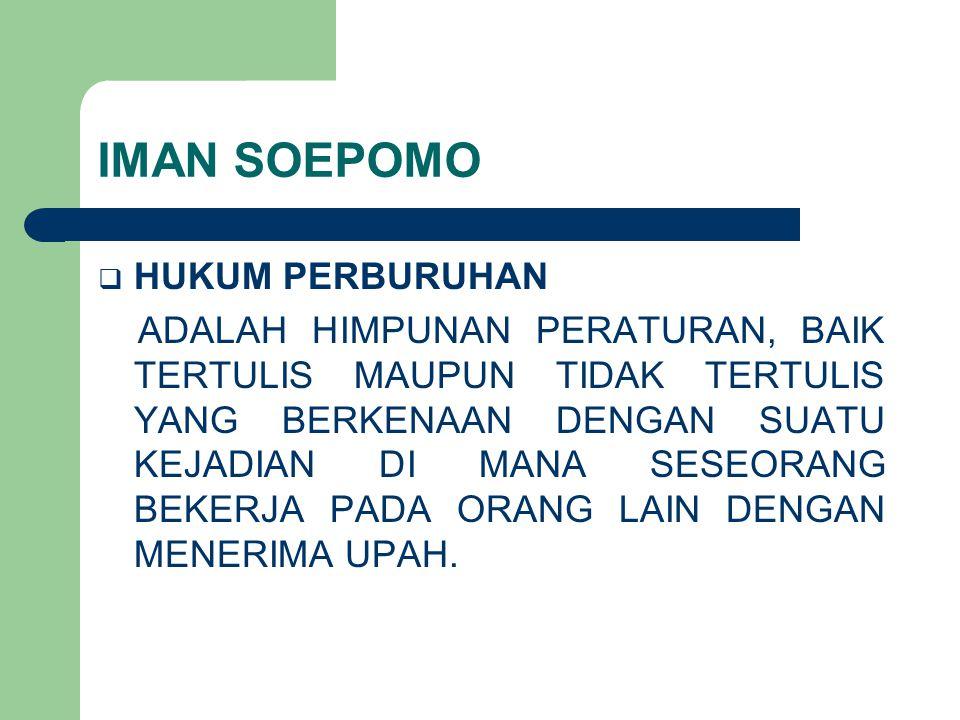IMAN SOEPOMO HUKUM PERBURUHAN