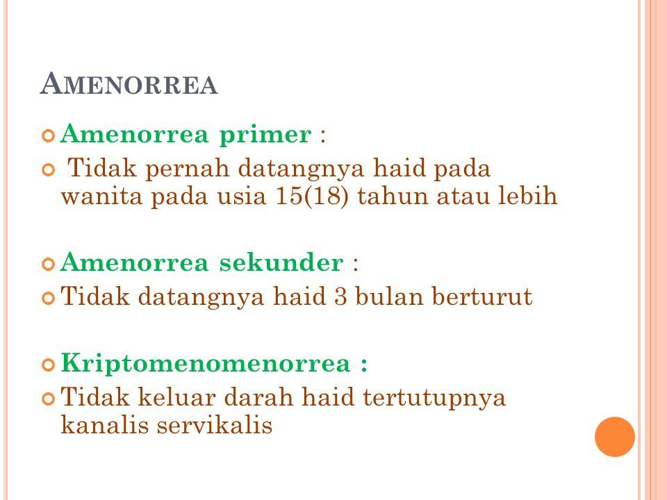 Amenorrea Amenorrea primer :