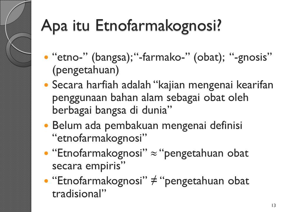 Apa itu Etnofarmakognosi