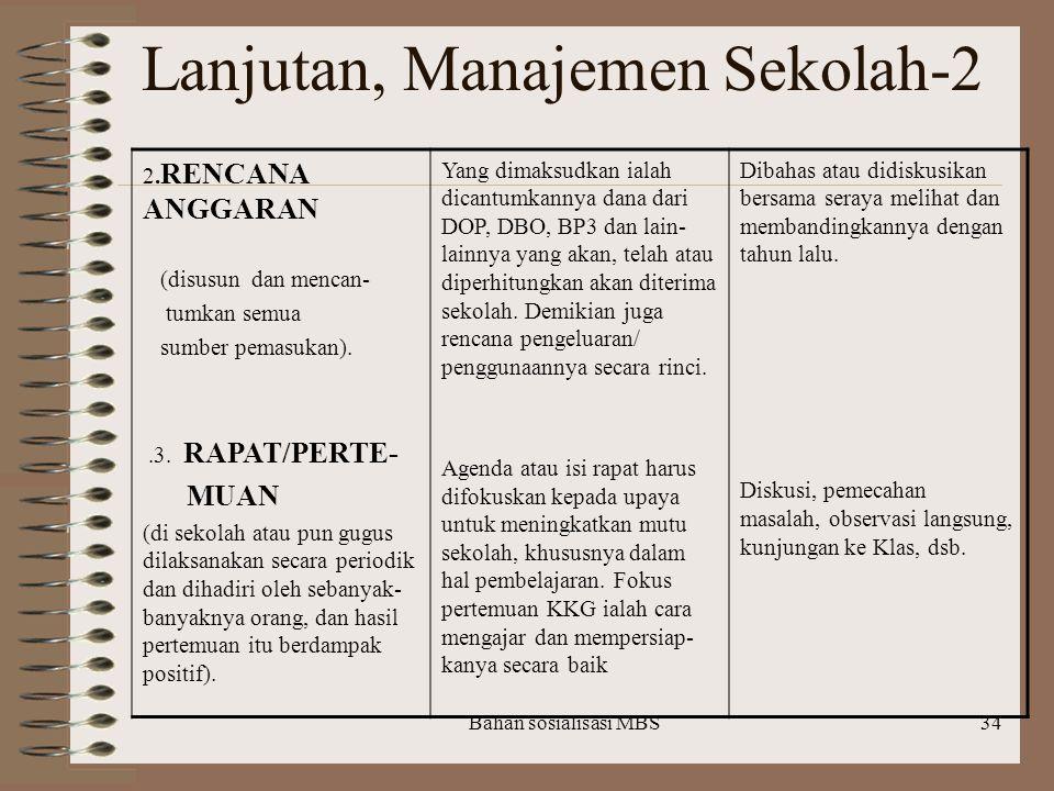 Lanjutan, Manajemen Sekolah-2