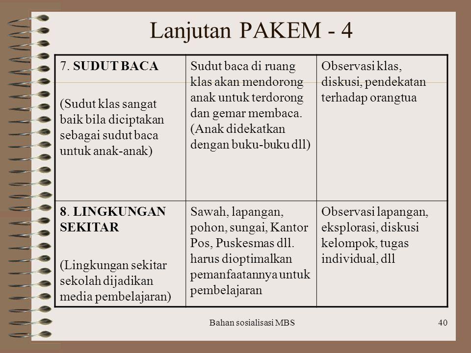 Lanjutan PAKEM - 4 7. SUDUT BACA