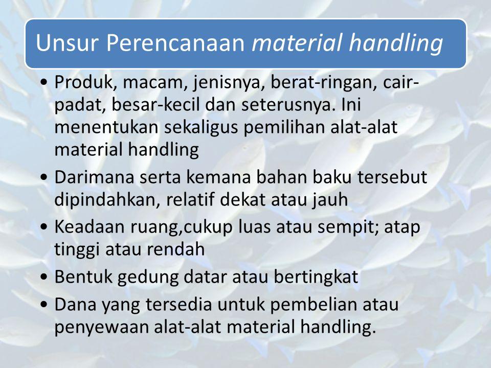 Unsur Perencanaan material handling