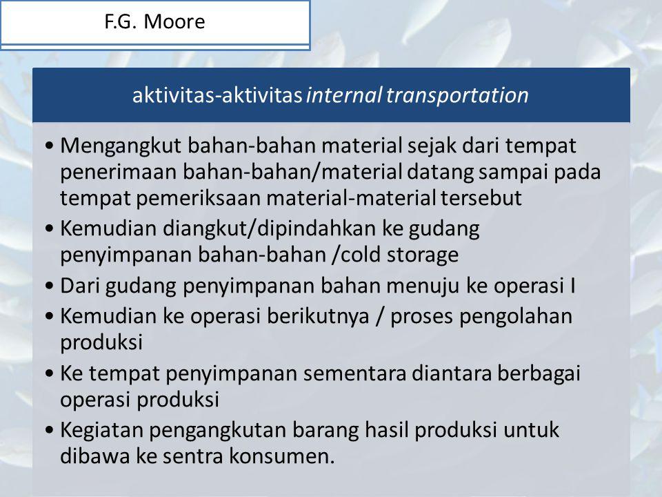 aktivitas-aktivitas internal transportation