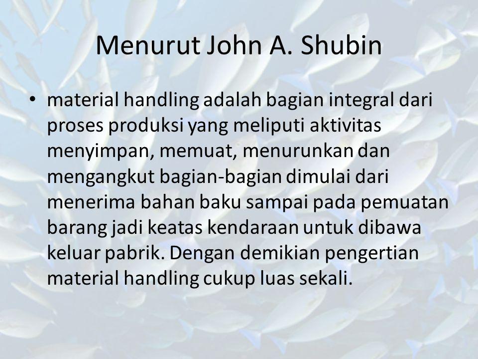 Menurut John A. Shubin