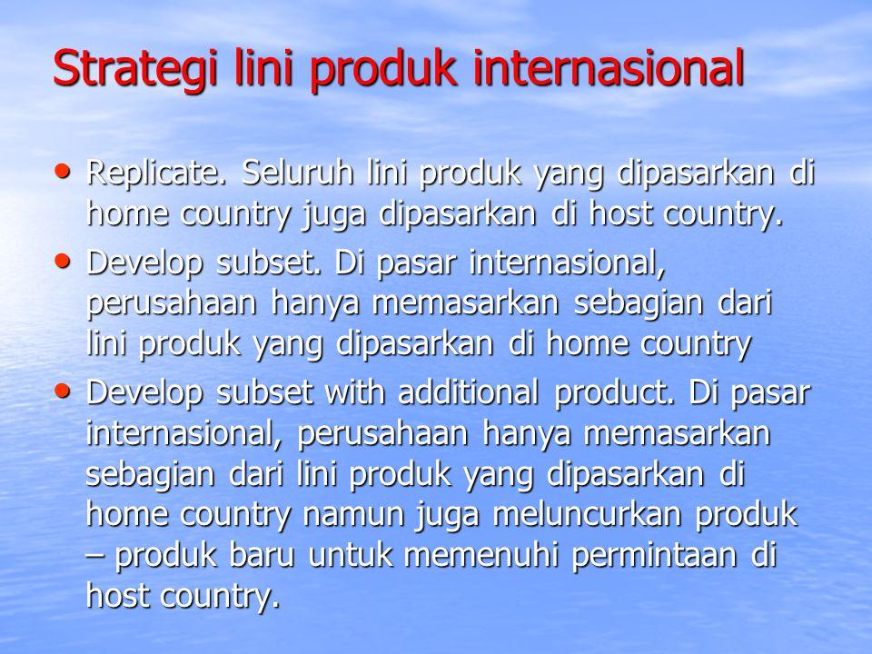 Strategi lini produk internasional