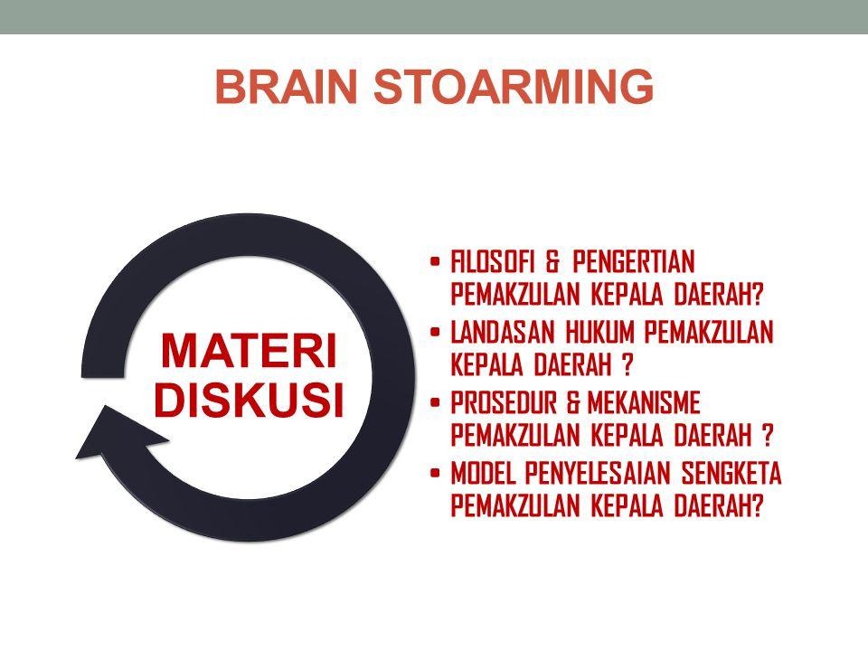 BRAIN STOARMING MATERI DISKUSI