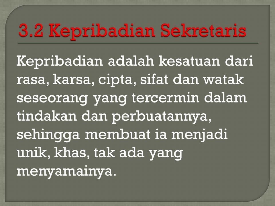 3.2 Kepribadian Sekretaris