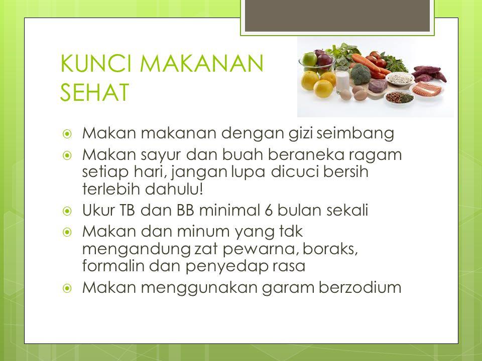 KUNCI MAKANAN SEHAT Makan makanan dengan gizi seimbang