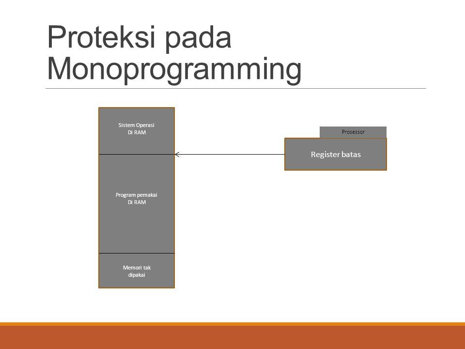 Proteksi pada Monoprogramming