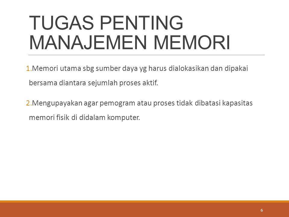 TUGAS PENTING MANAJEMEN MEMORI