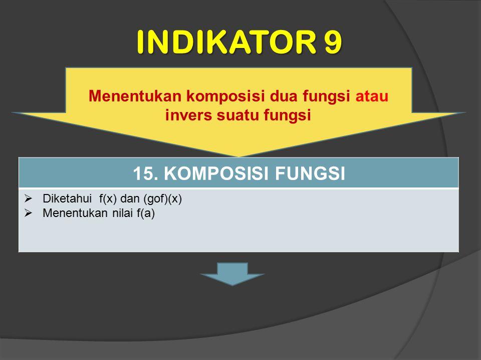 Menentukan komposisi dua fungsi atau invers suatu fungsi