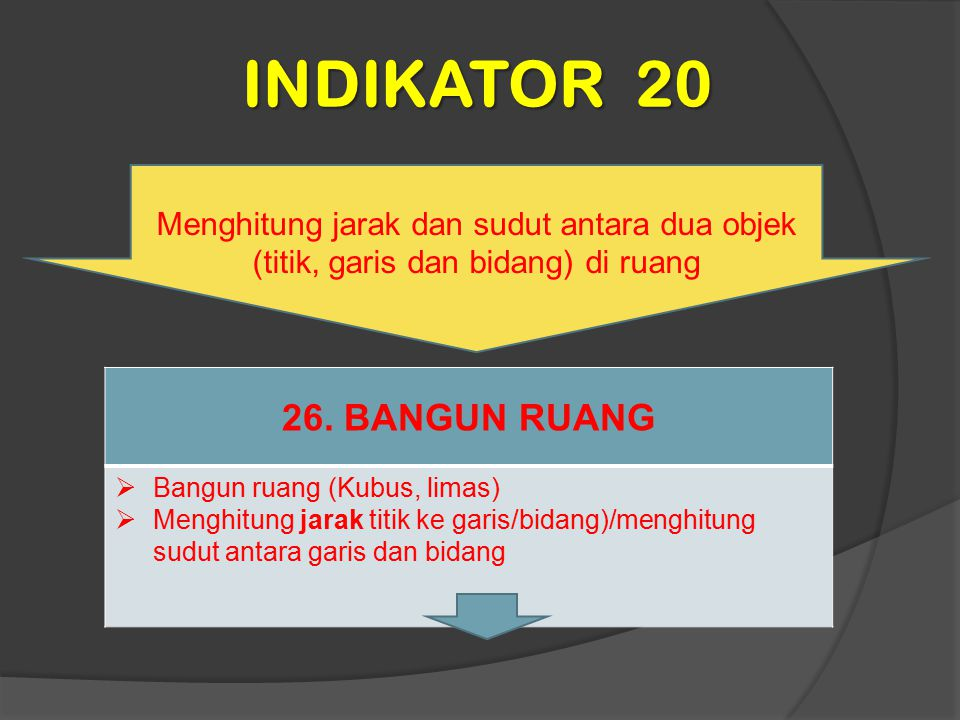 INDIKATOR 20 26. BANGUN RUANG