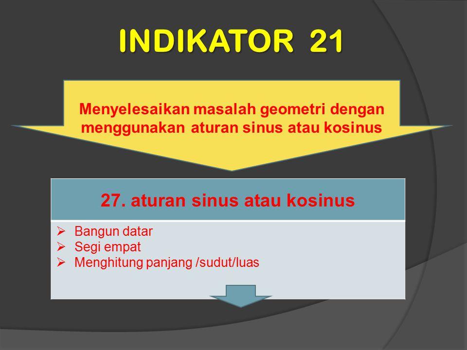 27. aturan sinus atau kosinus