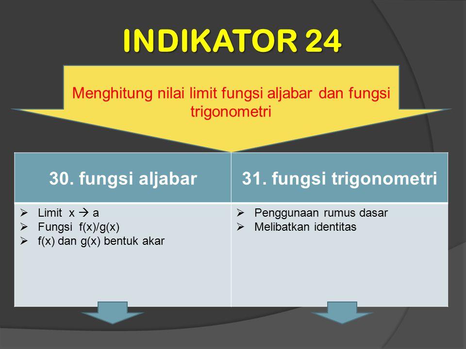 Menghitung nilai limit fungsi aljabar dan fungsi trigonometri