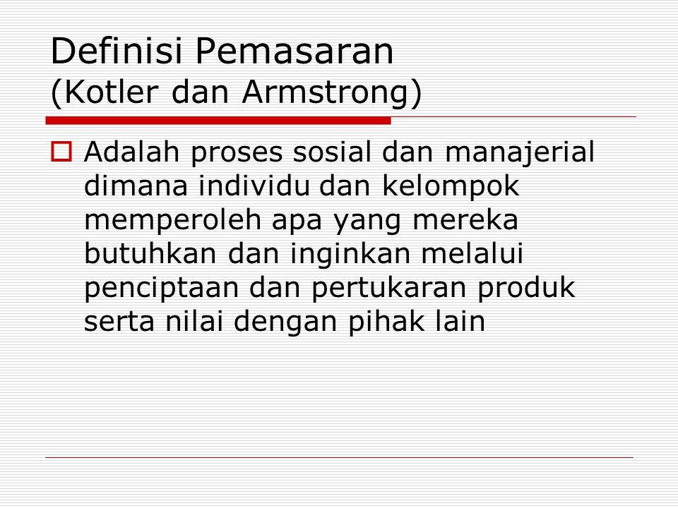 Definisi Pemasaran (Kotler dan Armstrong)