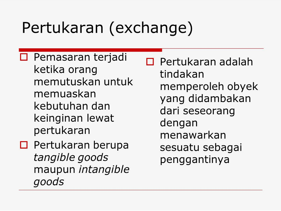 Pertukaran (exchange)
