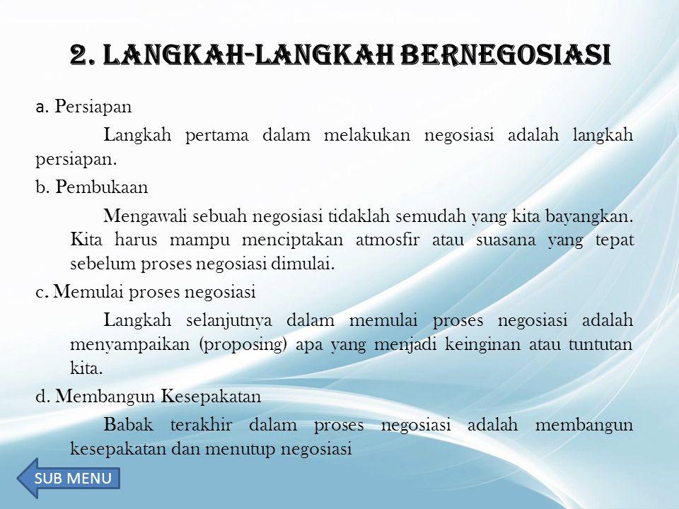 2. LANGKAH-LANGKAH BERNEGOSIASI