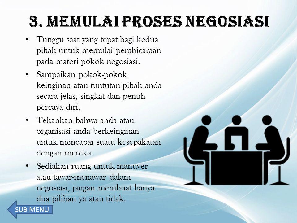 3. MEMULAI PROSES NEGOSIASI