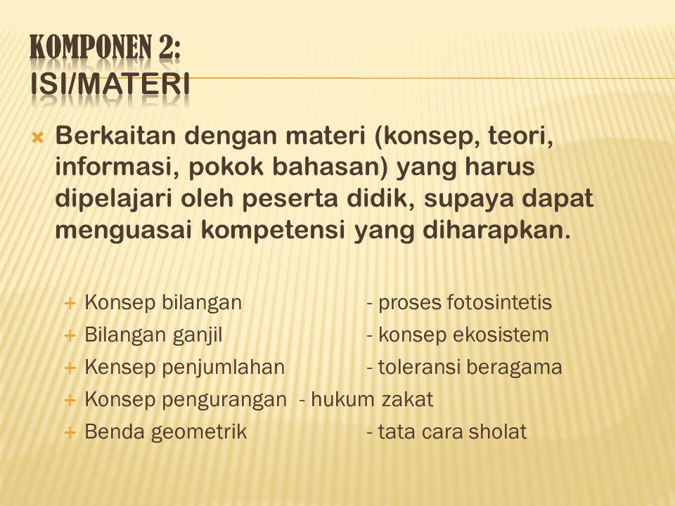 KOMPONEN 2: ISI/MATERI