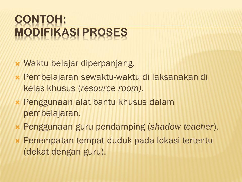 Contoh: MODIFIKASI PROSES