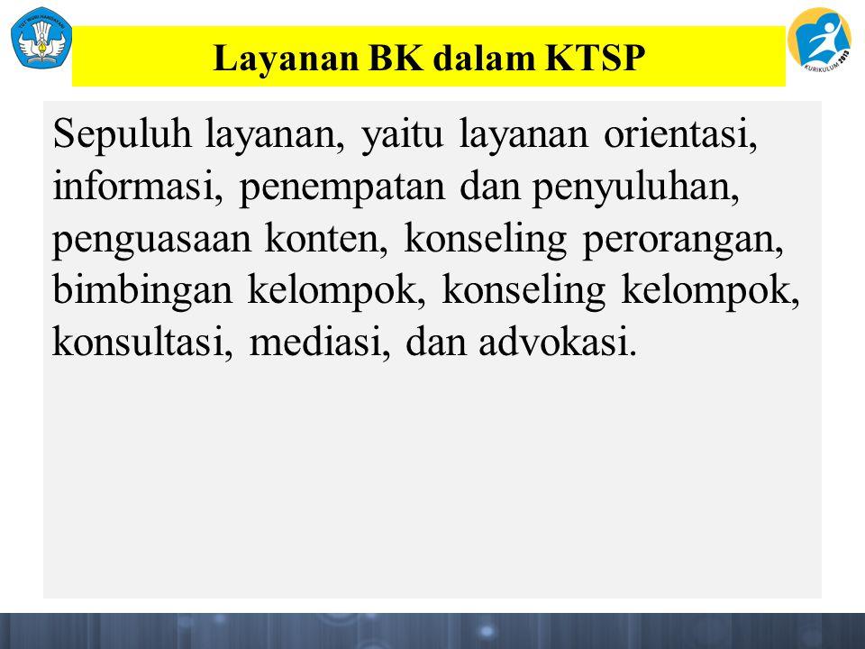 Layanan BK dalam KTSP