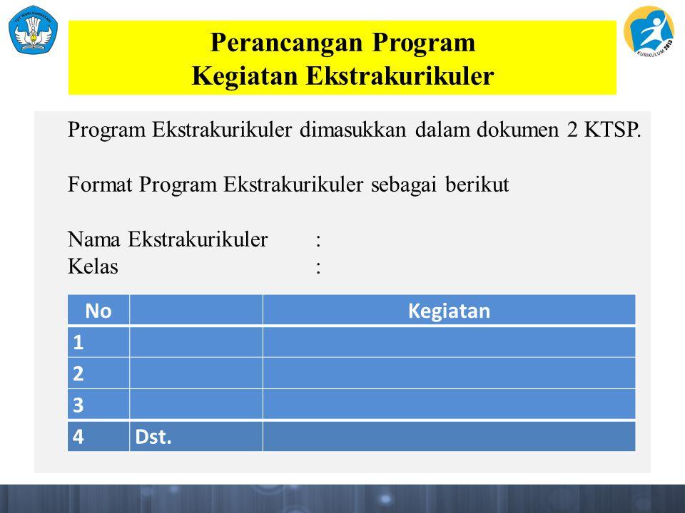 Perancangan Program Kegiatan Ekstrakurikuler