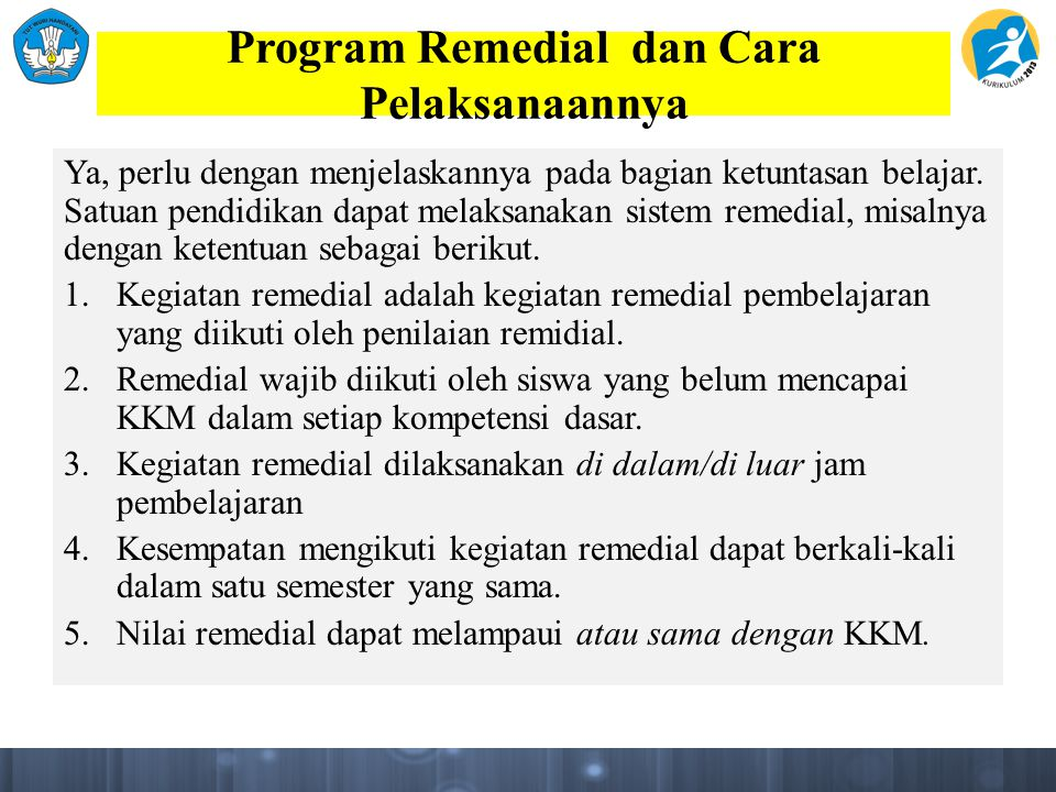 Program Remedial dan Cara Pelaksanaannya