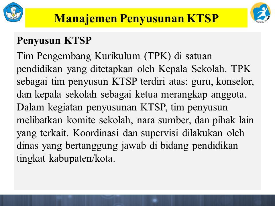 Manajemen Penyusunan KTSP