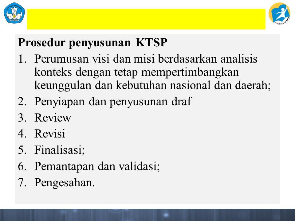 Prosedur penyusunan KTSP