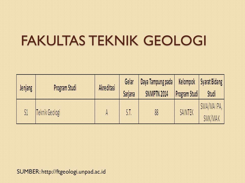 FAKULTAS TEKNIK GEOLOGI