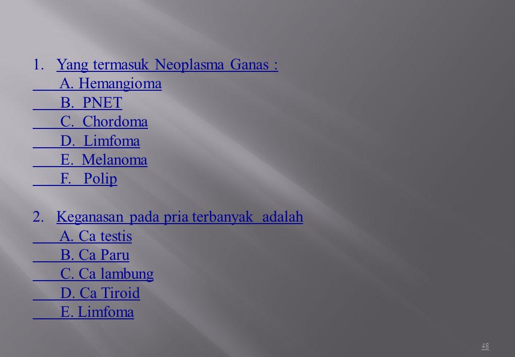 Yang termasuk Neoplasma Ganas :