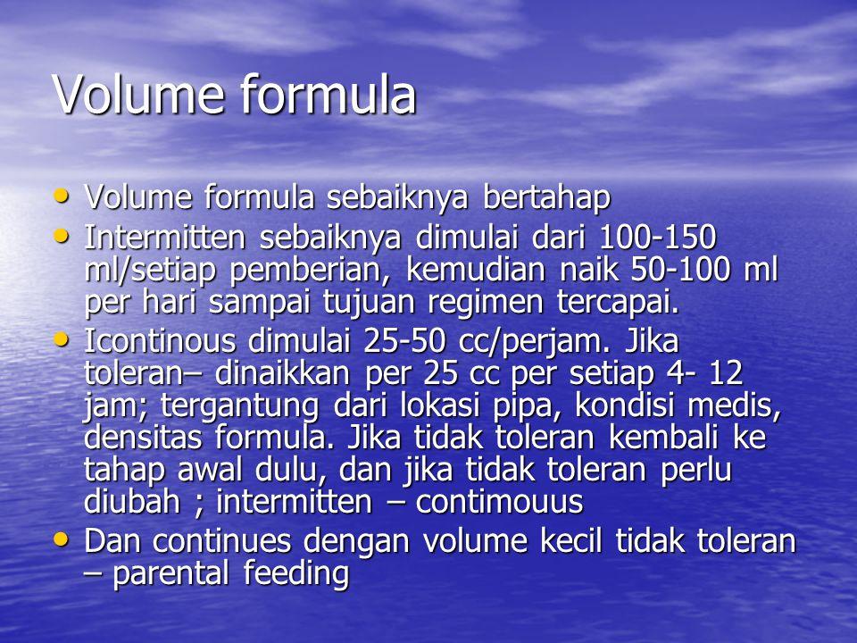 Volume formula Volume formula sebaiknya bertahap