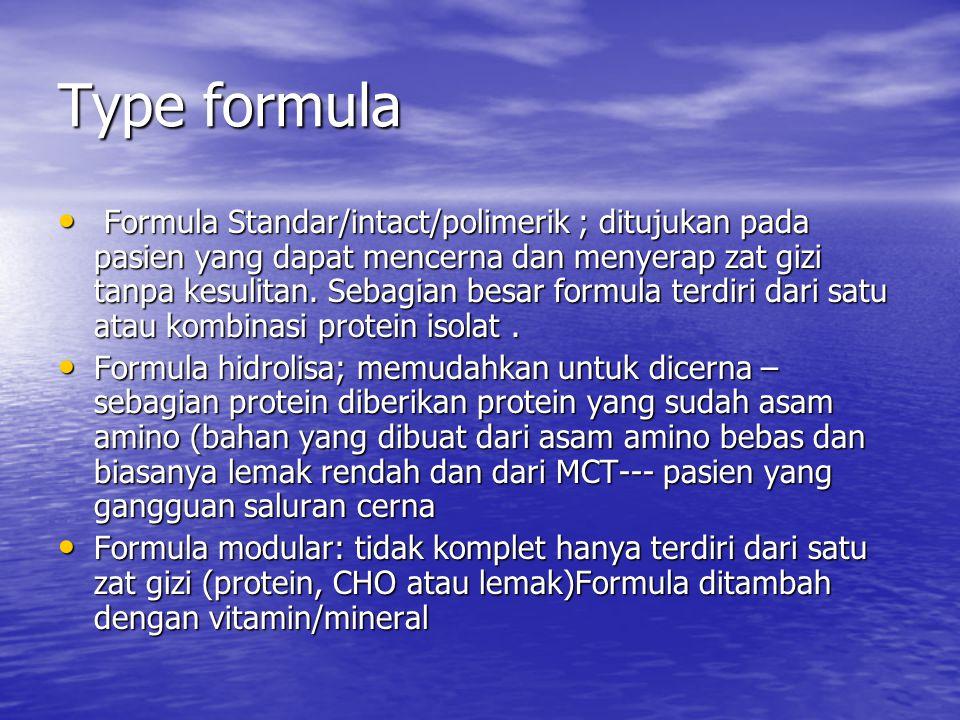 Type formula