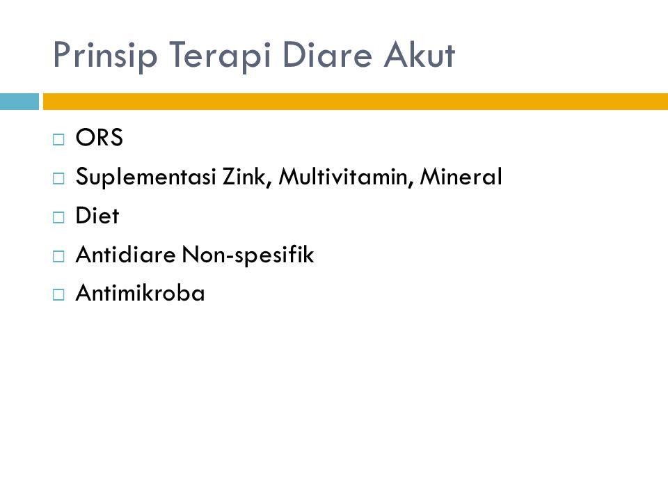 Prinsip Terapi Diare Akut