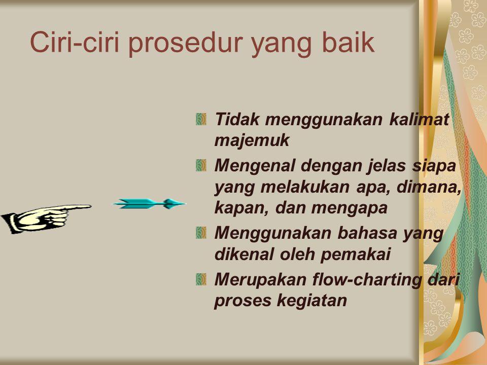 Ciri-ciri prosedur yang baik