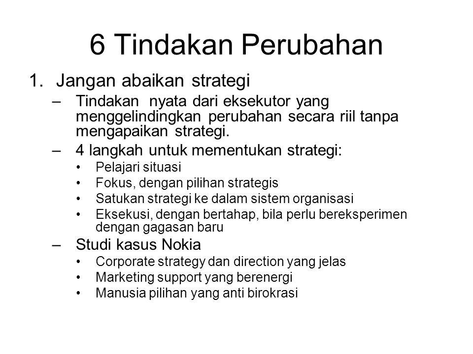 6 Tindakan Perubahan Jangan abaikan strategi