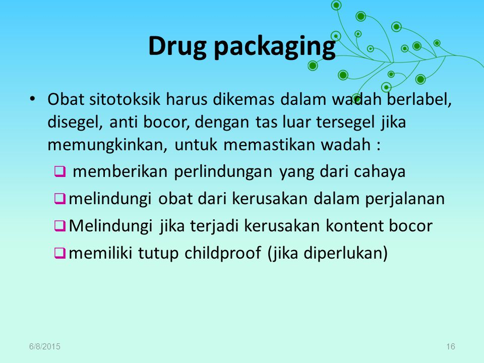 Drug packaging