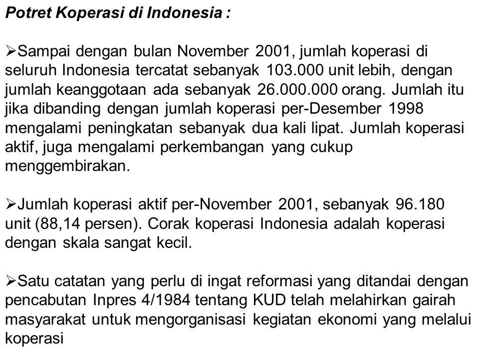 Potret Koperasi di Indonesia :