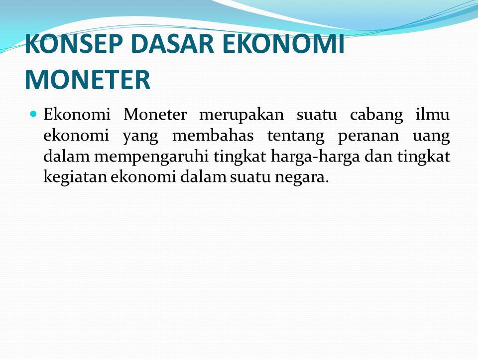 KONSEP DASAR EKONOMI MONETER