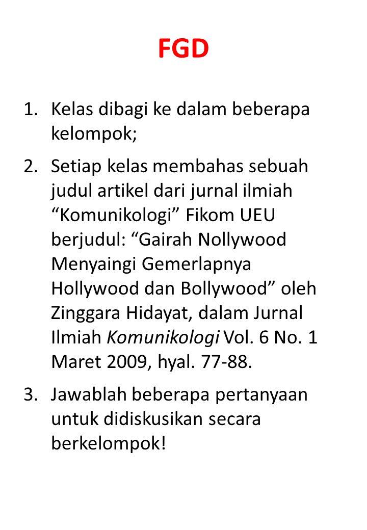 FGD Kelas dibagi ke dalam beberapa kelompok;