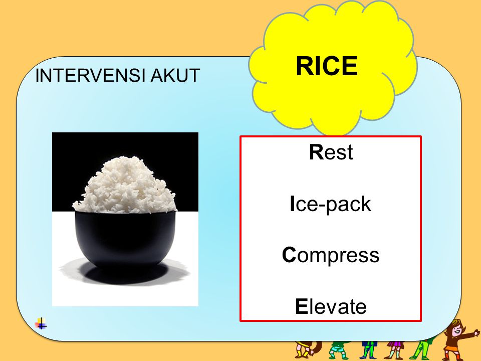 RICE INTERVENSI AKUT Rest Ice-pack Compress Elevate