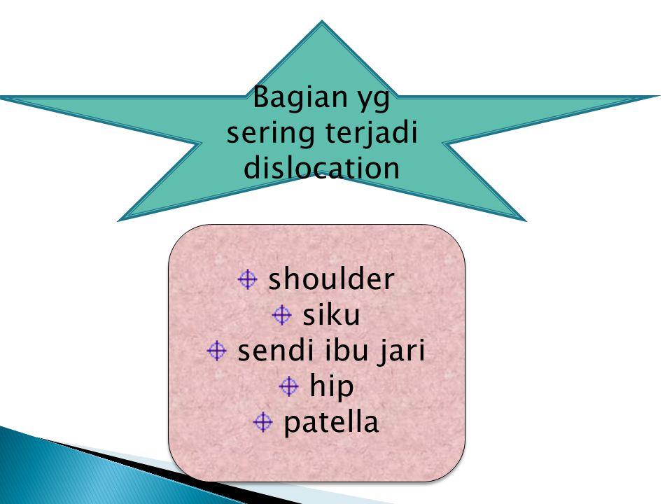 Bagian yg sering terjadi dislocation