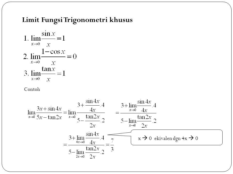 Limit Fungsi Trigonometri khusus
