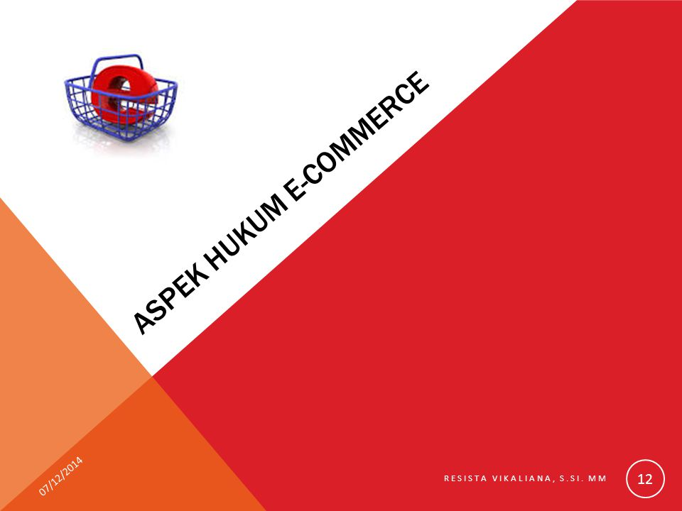 ASPEK HUKUM E-COMMERCE