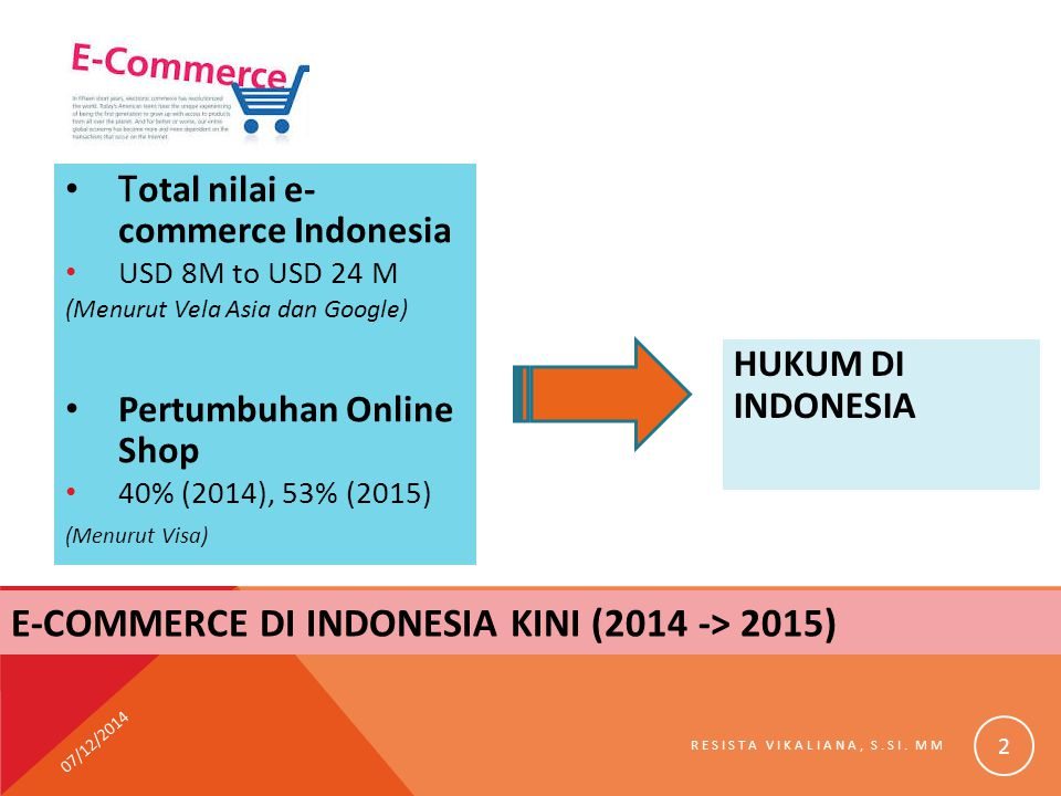 E-commerce di indonesia kini (2014 -> 2015)