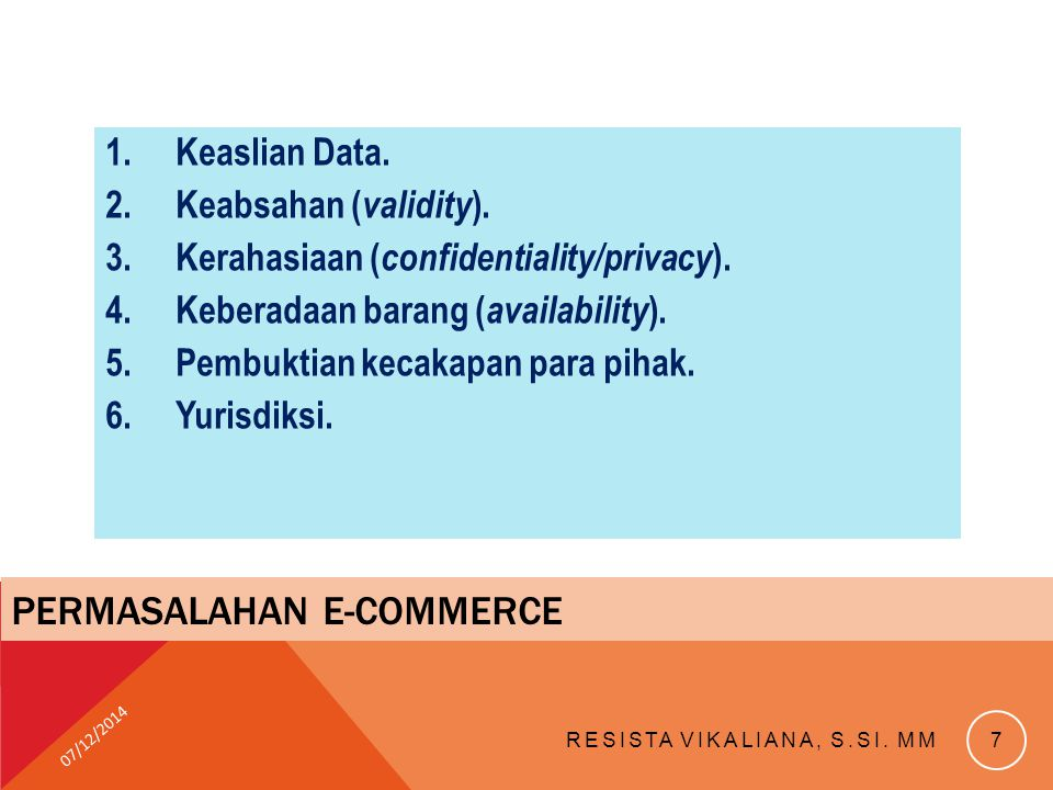 Permasalahan e-commerce