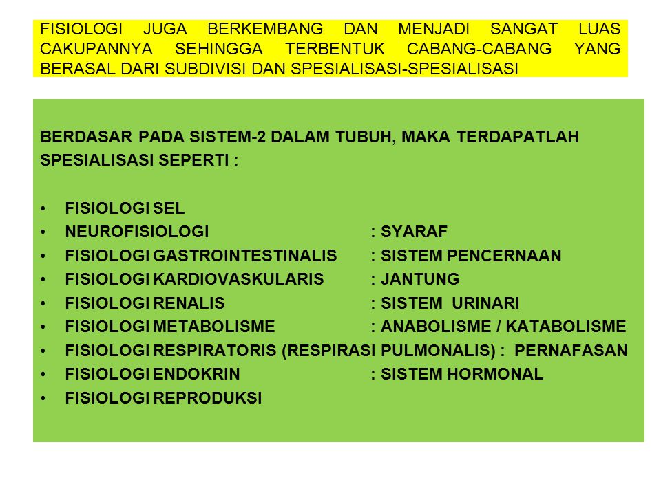 BERDASAR PADA SISTEM-2 DALAM TUBUH, MAKA TERDAPATLAH