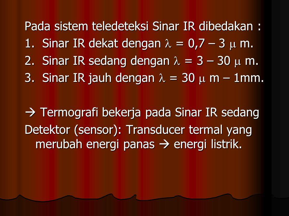 Pada sistem teledeteksi Sinar IR dibedakan :