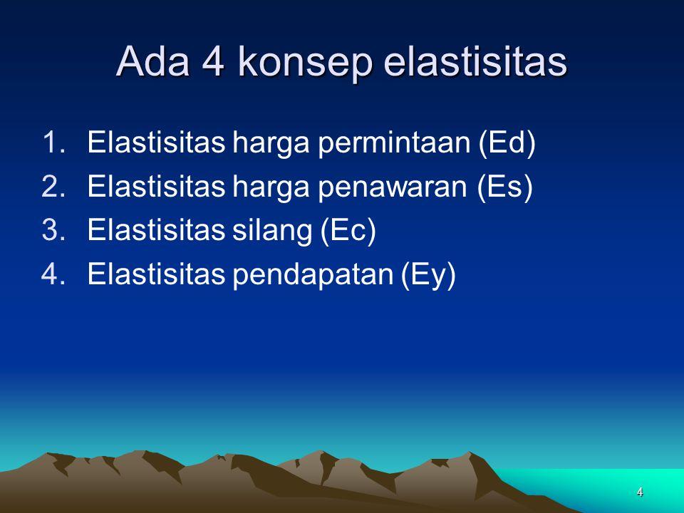 Ada 4 konsep elastisitas