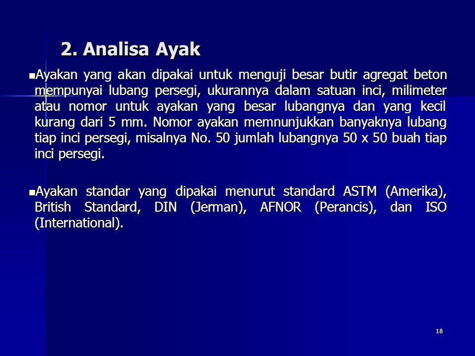 2. Analisa Ayak
